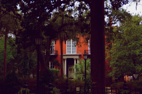 The Mercer House in Savanah, GA. It is the setting of John Berendt modern classic Midnight in the Garden of Good and Evil.