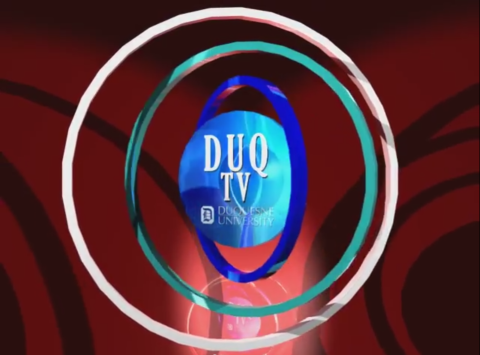 A 3D animated logo for Duquesne University's DuqTV created in Lightwave 3D.